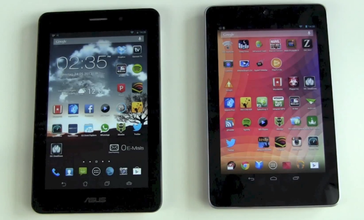 ASUS Fonepad vs Google Nexus 7