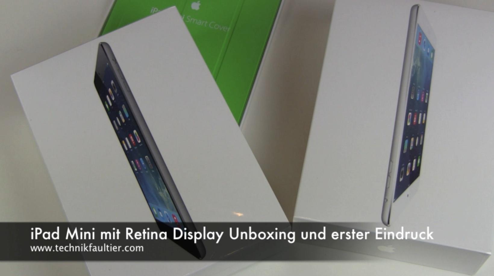 ipad mini mit retina display wei unboxing und erster. Black Bedroom Furniture Sets. Home Design Ideas