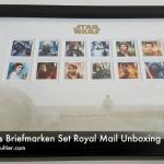 Star Wars Briefmarken Set Royal Mail Unboxing