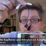 iPhone 7 alte Kopfhörer und Mikrofon mit Adapter Test